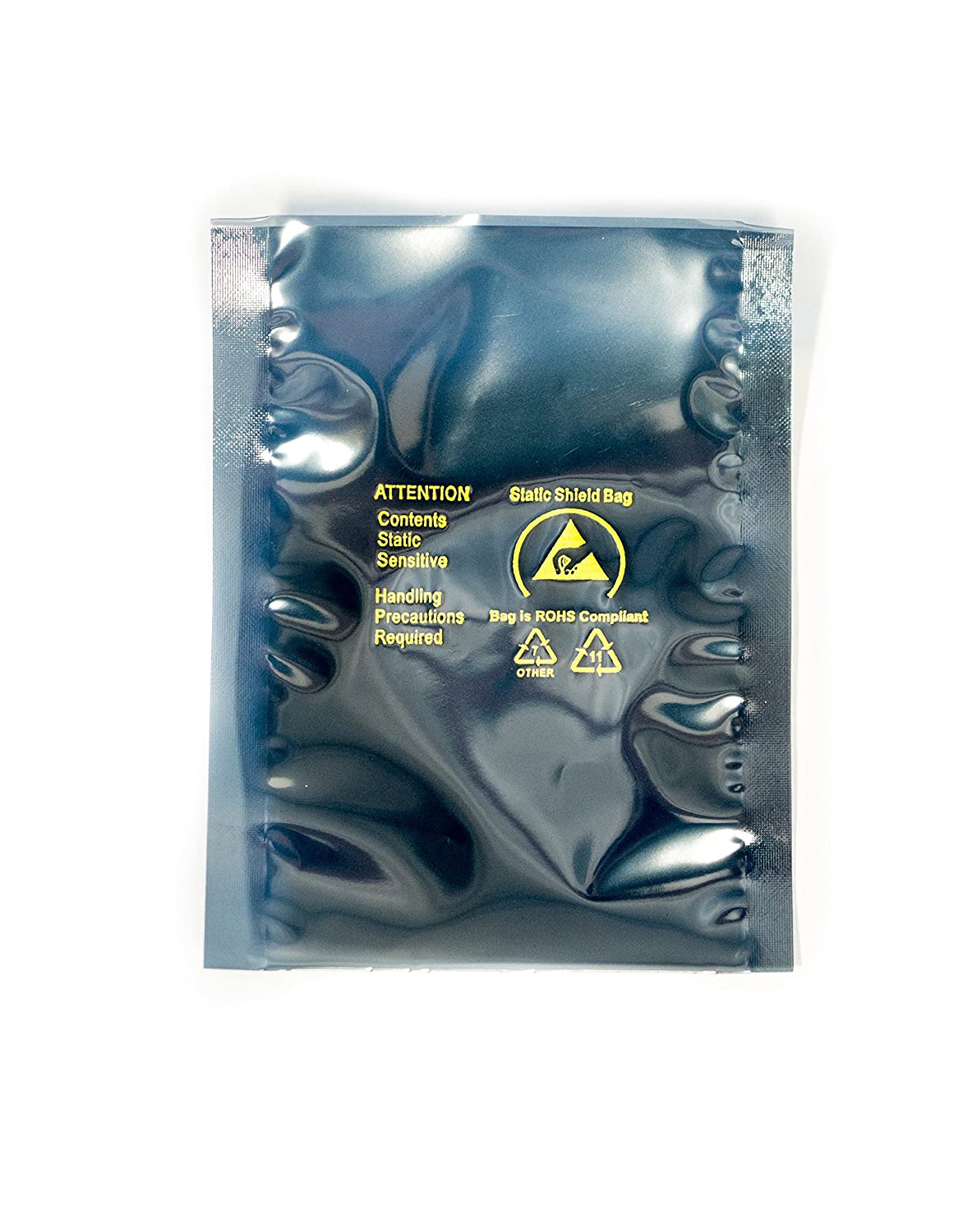 Open Top Gray Static Dissipative Polyethylene 4 Wide x 6 Length x 0.0031 Height Bertech BG-0406 General Purpose ESD Bags Pack of100