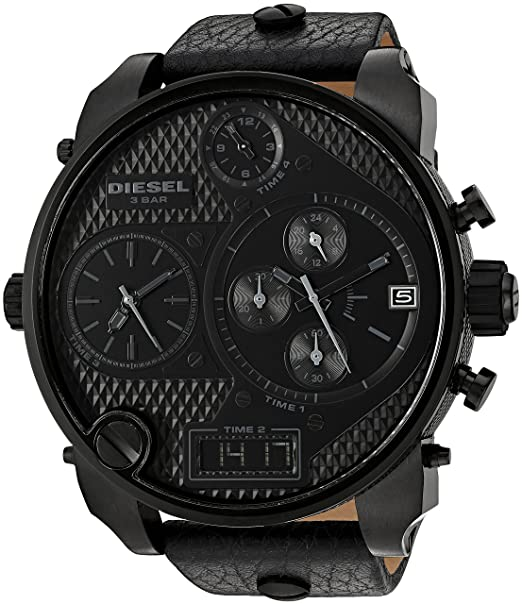 4ea6b10e408f Amazon.com  Diesel Men s DZ7193 SBA Black Watch  Diesel  Watches