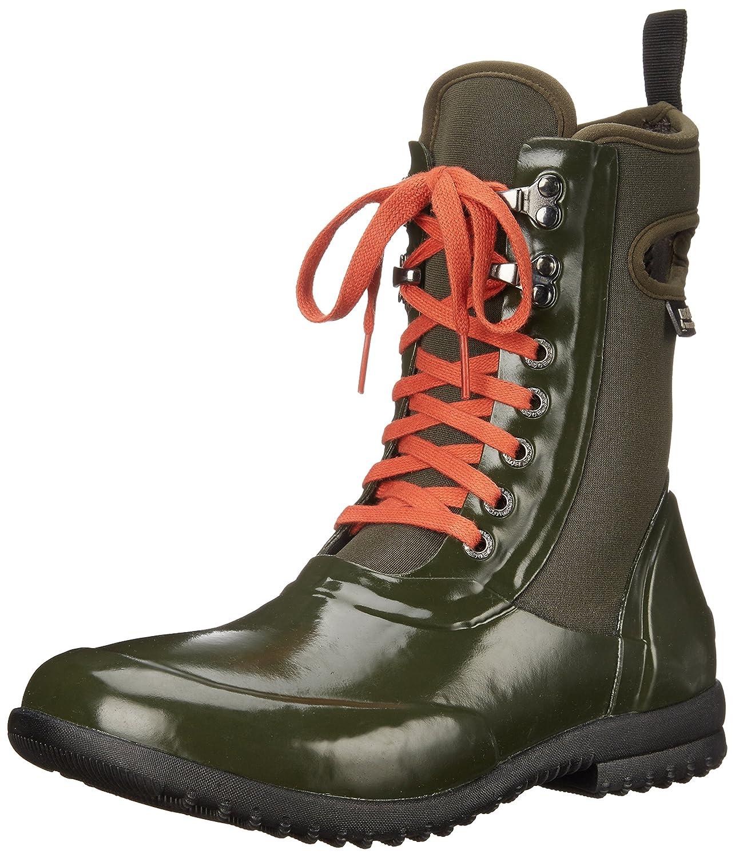 Bogs Women's Sidney Cravat Snow Boot B00QMPNBPI 6 B(M) US|Solid Print/Dark Green