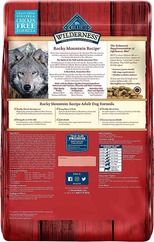 Azul Buffalo Wilderness Rocky Mountain Receta seco Adulto ...