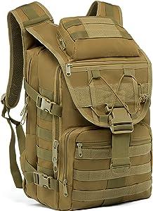 Supersun Tactical Military Backpack Molle - 35L Tactical Backpack Laptop Rucksack Survival Bag Bugout Assault Pack