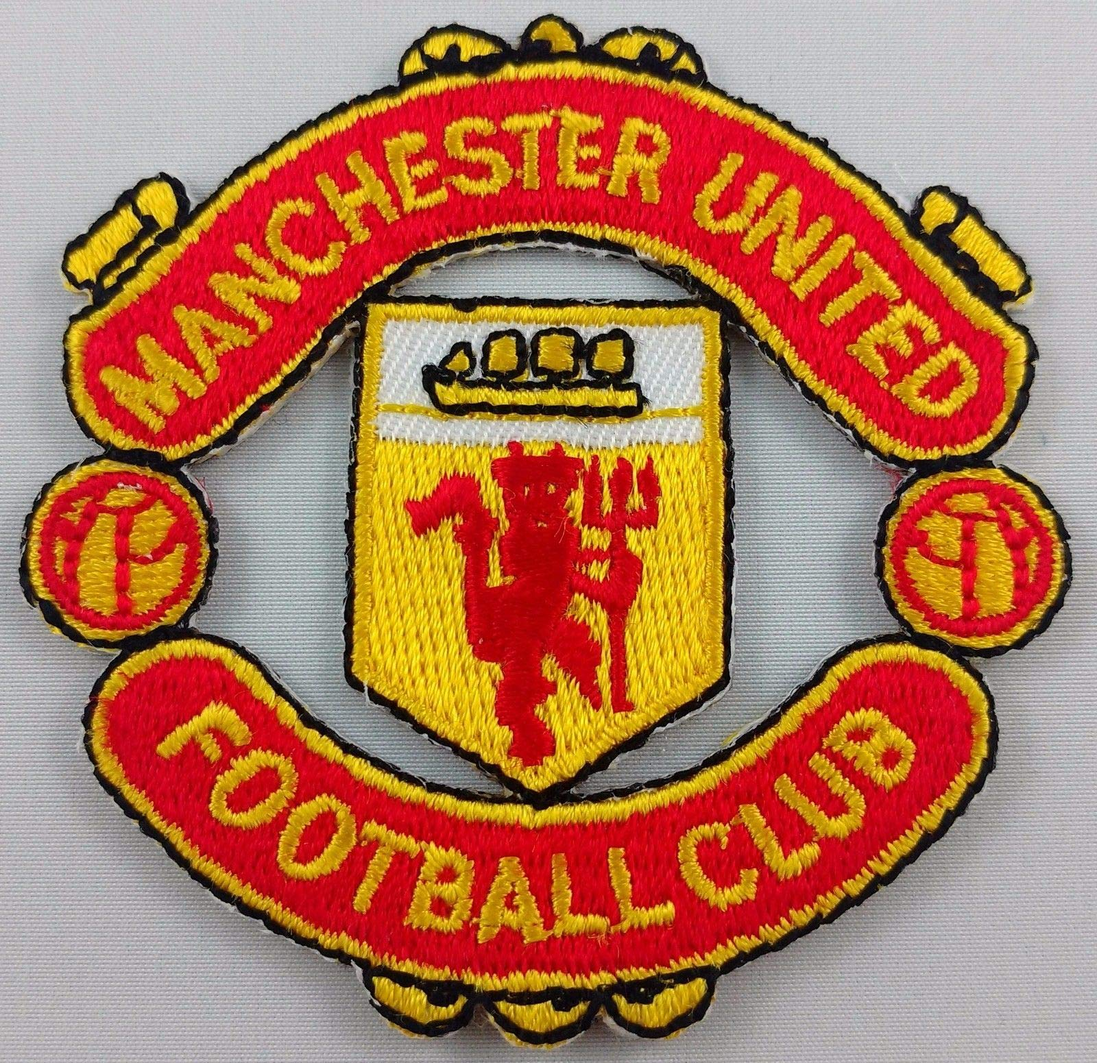 Embroidery Patch Manchester United Football Club Soccer Badge Applique 2.5''x2.5'' by Danlex