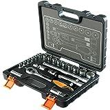 STACO 63022 - Juego de herramientas (llaves de vaso y carraca, 1/2 pulgada)