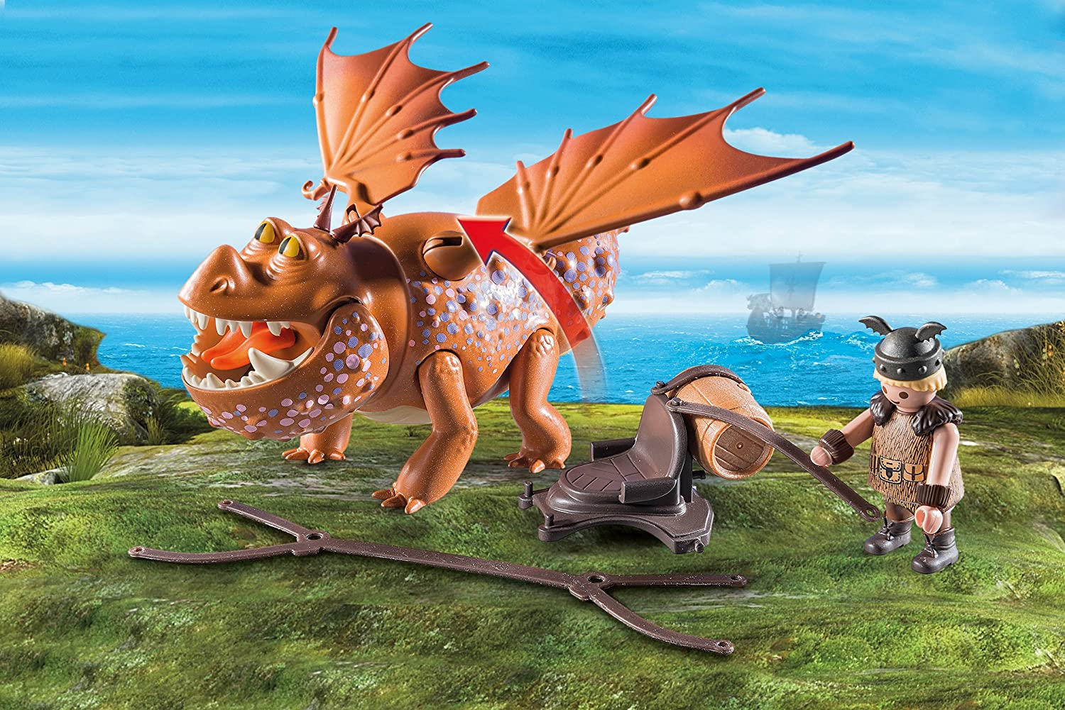 PLAYMOBIL/® 9460 How to Train Your Dragon Fishlegs Meatlug Multicolor