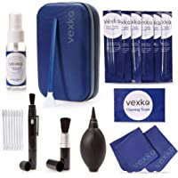 Vexko Camera Cleaning Kit for DSLR Cameras | Traveling Pouch + Camera Lens Cleaner Solution & Wipes + Microfiber…
