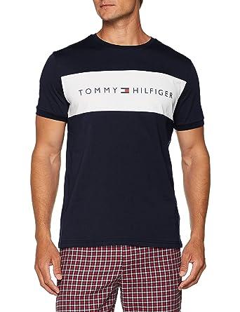 875d1f5c Tommy Hilfiger Men's Rn Tee Ss Logo Pyjama Top: Amazon.co.uk: Clothing