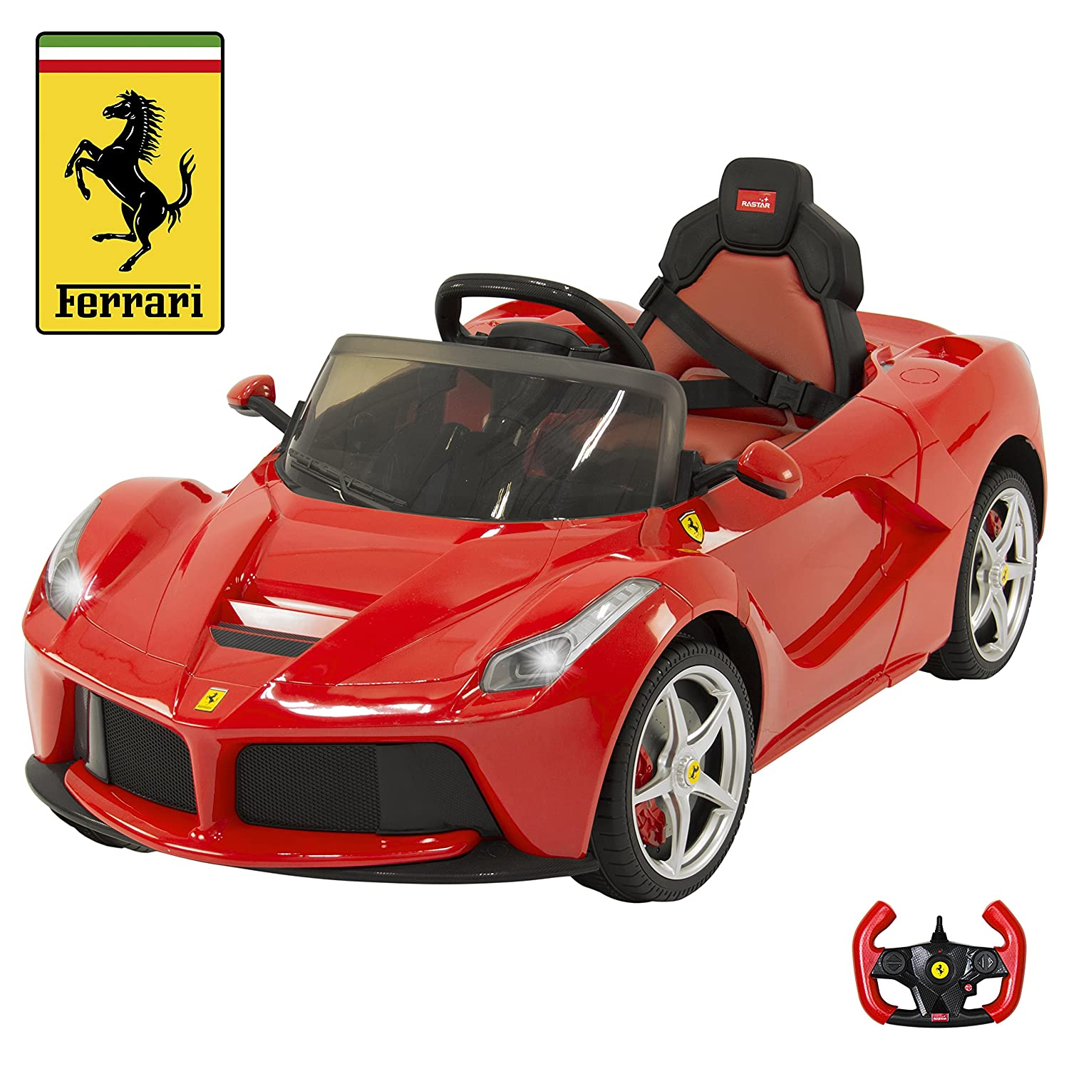Amazon Best Ride Cars LA Ferrari 12V Yellow Toys & Games