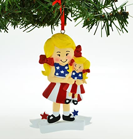personalized christmas ornament american girl doll blonde hair - Christmas Decorations For American Girl Dolls