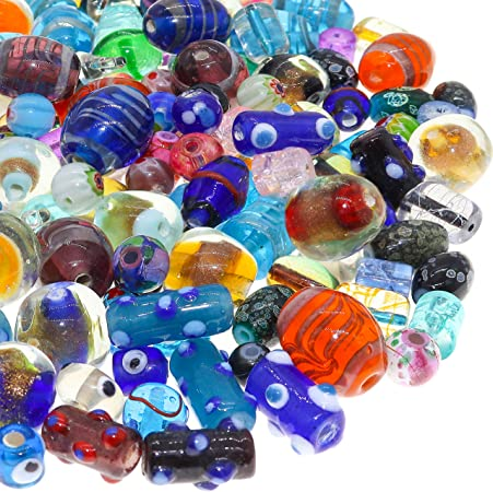 Glass beads set with 9 pieces lampwork