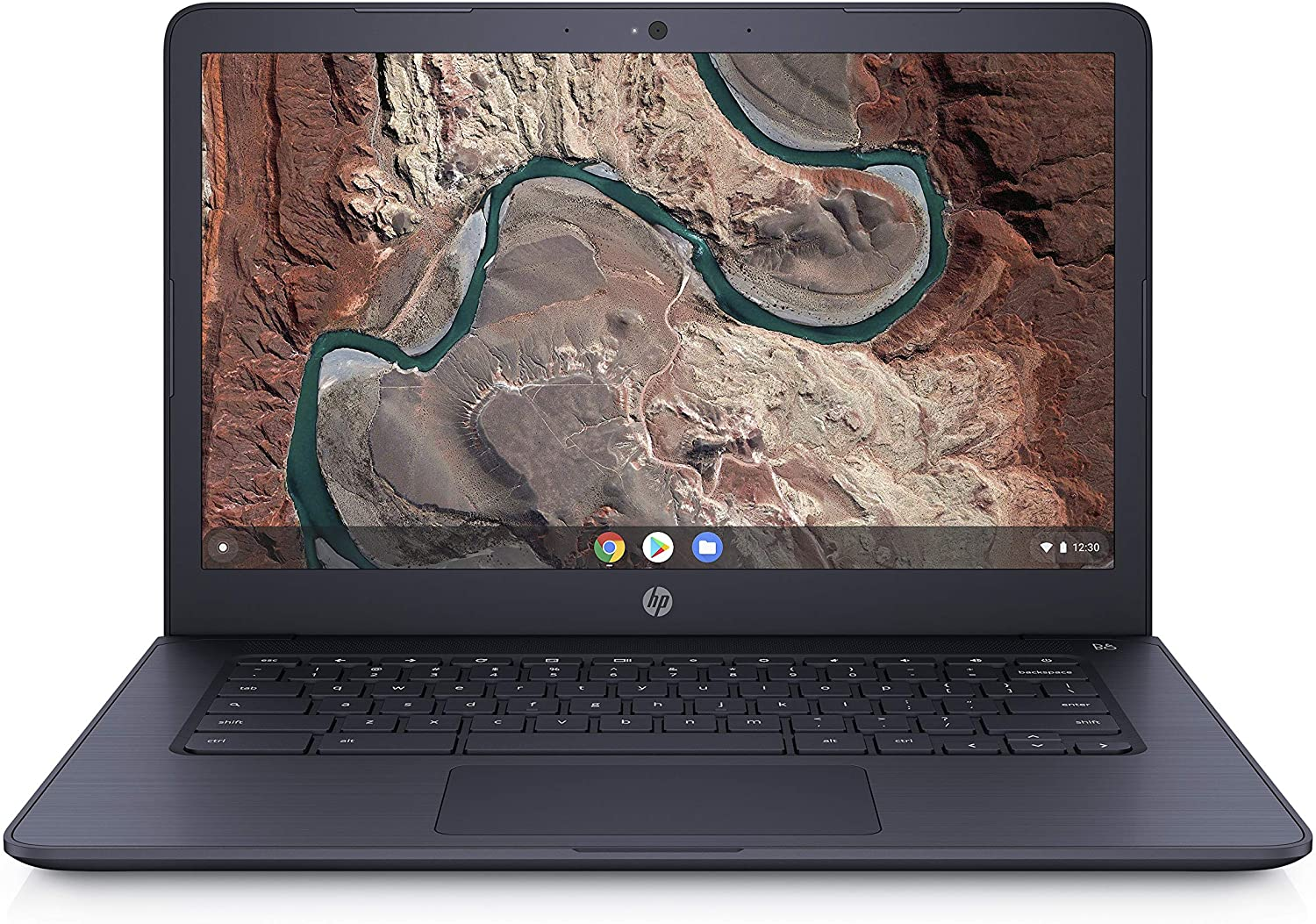 HP Chromebook 14-inch Laptop with 180-Degree Hinge, Full HD Screen, AMD Dual-Core A4-9120 Processor, 4 GB SDRAM, 32 GB eMMC Storage, Chrome OS (14-db0080nr, Ink Blue)