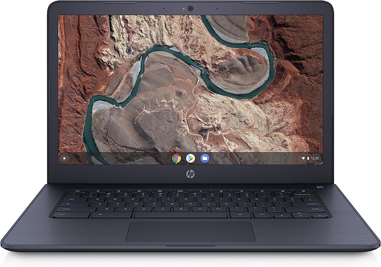 HP Chromebook 14-inch Laptop with 180-Degree Hinge, Full HD Screen, AMD Dual-Core A4-9120 Processor, 4 GB SDRAM, 32 GB eMMC Storage, Chrome OS (14-db0080nr, Ink Blue)