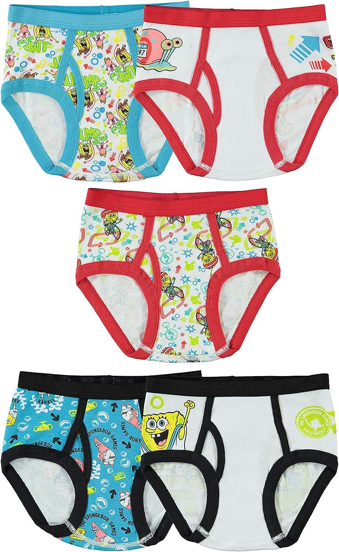 Nickelodeon Little Boys' SpongeBobBrief (Pack of 5)