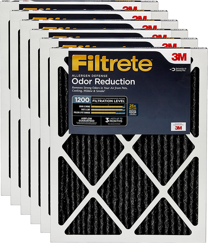 MPR 1000 AC Furnace Air Filter Filtrete 12x24x1 2-Pack Micro Allergen Defence