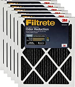 Filtrete MPR 1200 16x20x1 AC Furnace Air Filter, Allergen Defense Odor Reduction, 6-Pack