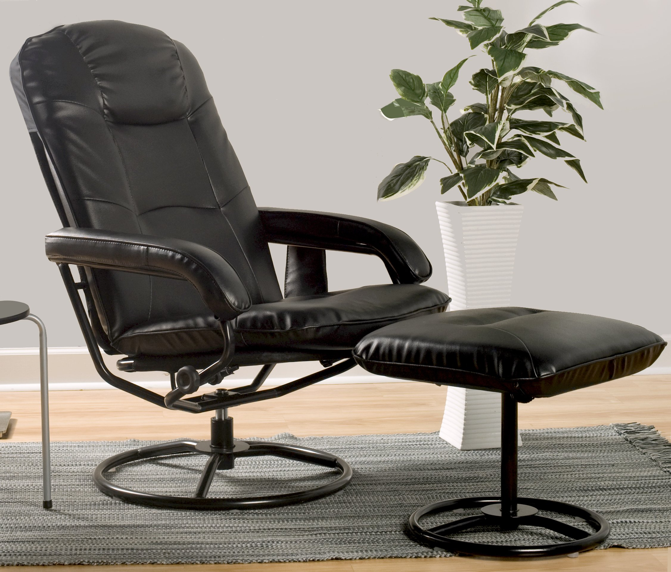 Comfort Products 60-0582 Leisure Recliner Chair with 10-Motor Massage & Heat, Black by Comfort Products (Image #5)