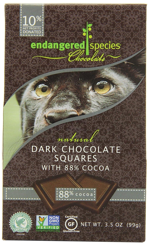 Amazon.com : Endangered Species Panther, Natural Dark Chocolate ...