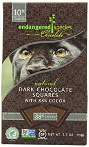 Endangered Species Dark Chocolate Squares