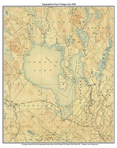 Amazon.com: Sebago Lake - ca 1898 USGS Old Topographical Map ... on surry mountain lake map, pittsfield lake map, mexico lake map, bedford lake map, flagstaff lake map, mooselookmeguntic lake map, china lake map, jaffrey lake map, sebasticook lake map, little sebago map, maine map, massachusetts map, lake easton state park campground map, sperry lake map, sebago state park map, diamond valley lake map, point sebago map, lake wallenpaupack map, clarks lake map, gardner lake map,