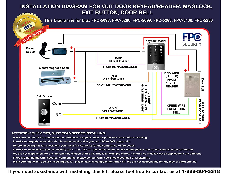 91jLQvDu9TL._SL1500_ amazon com fpc 5280 one door access control inswinging door  at crackthecode.co