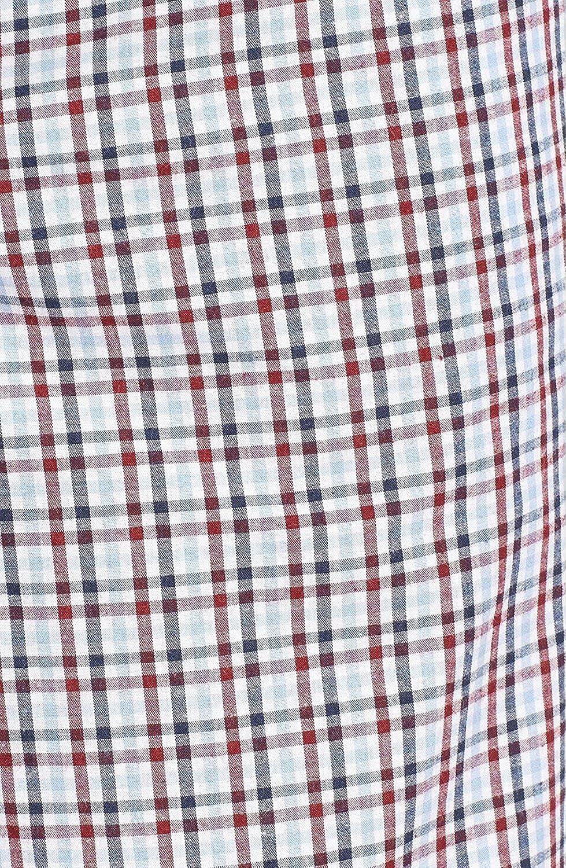 Mens Burgundy-Blue-Navy Small Plaid Lounge Pajama Sleep Pants