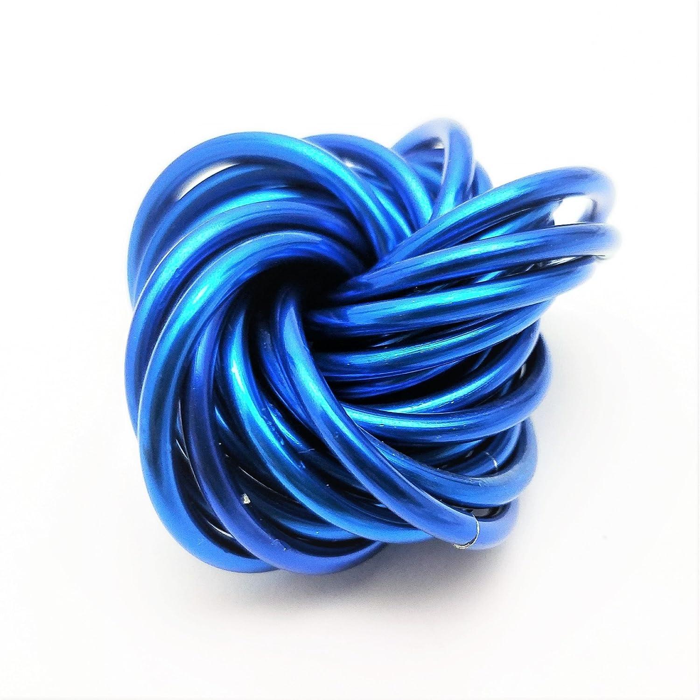 Möbii Medium Fidget Balls: Mobius Stress Ball Fidget Toy for Restless Hands, Office Desk Toy, Anxiety Relief, Stress Relief, ADD, ADHD (Cobalt)