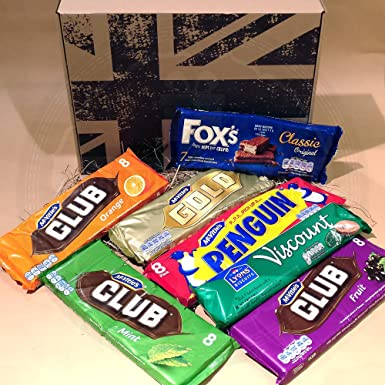 The British Favourite Biscuit Bars Collection Gift Box Top 7 Best Selling Biscuit Bars Selection Of Favourite Biscuit Bars Foxs Classic