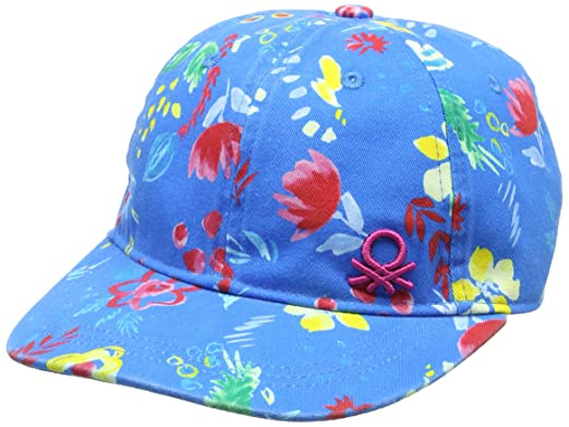 United Colors of Benetton with Visor, Gorra para Niños, (Flower Printed Cap 903