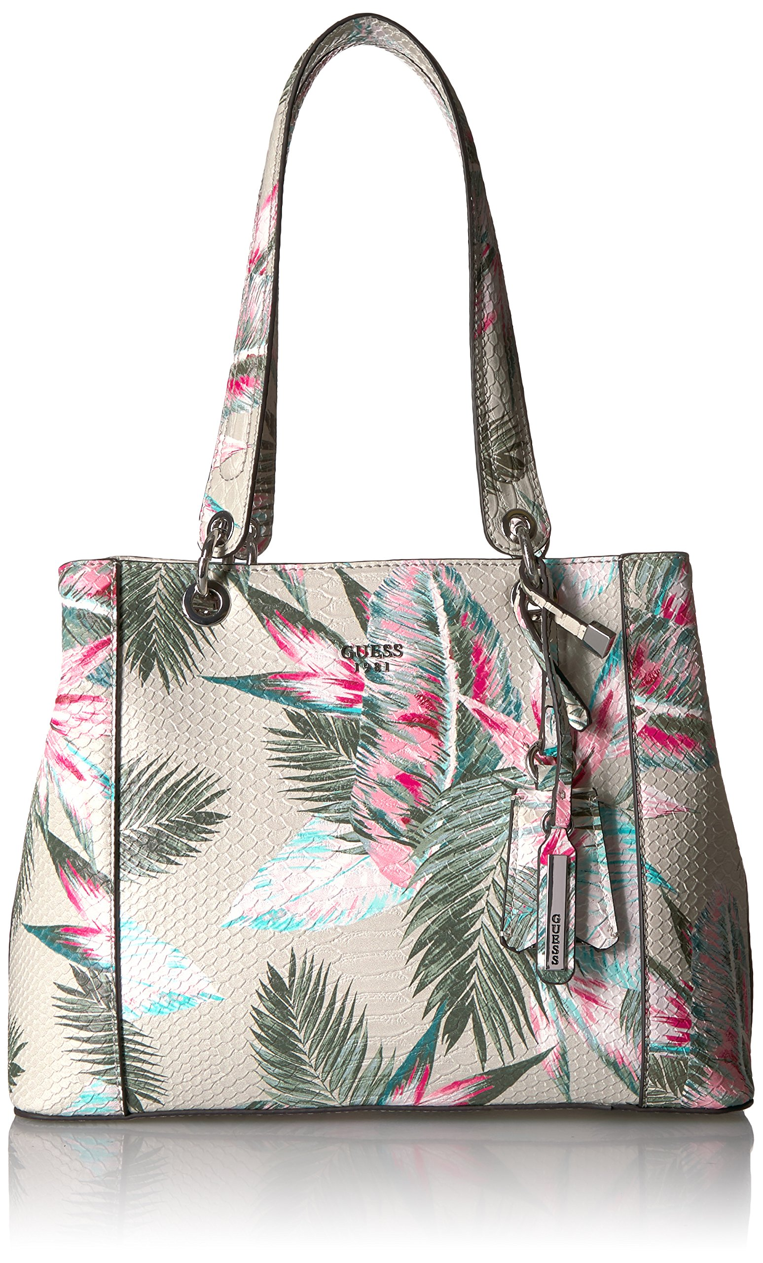 GUESS Kamryn Floral Shopper, Palm by GUESS