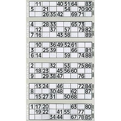 6000 6 a Ver Bingo Flyers Bingo Tickets: Electrónica