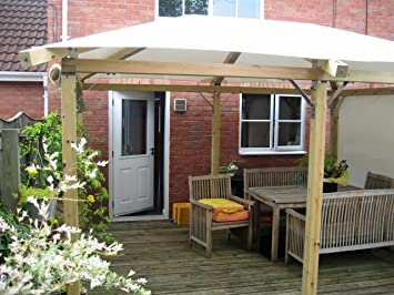 White Pavilion Gazebos3m x 4m 99 x 13 Garden Gazebo Hot Tub