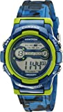 Armitron Sport Unisex 45/7064CBL Lime Green Accented Digital Chronograph Blue Camouflage Resin Strap Watch
