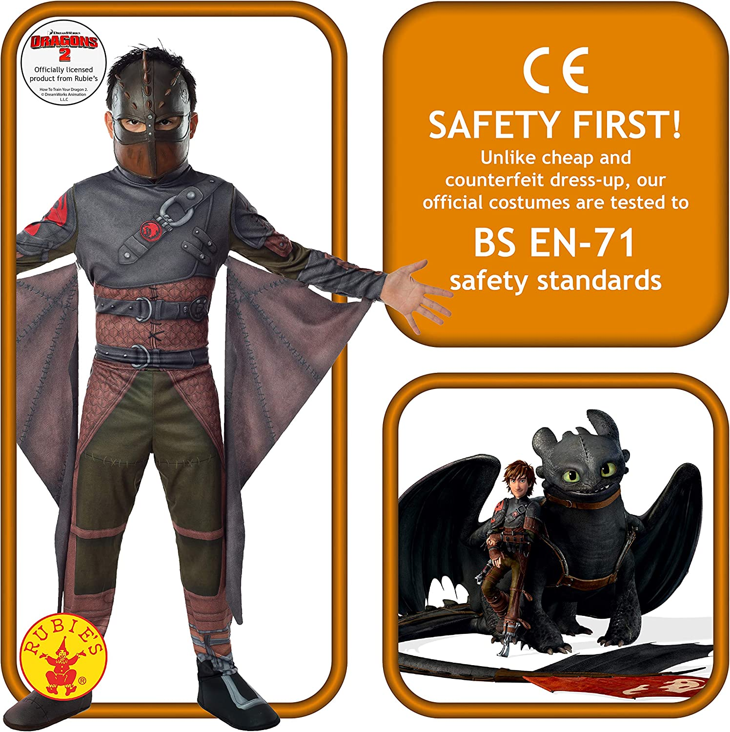Amazon Com Rubies How To Train Your Dragon 2 Hiccup Costume Child Small Toys Games