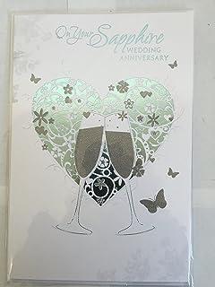 on your sapphire wedding anniversary 45th anniversary card amazon