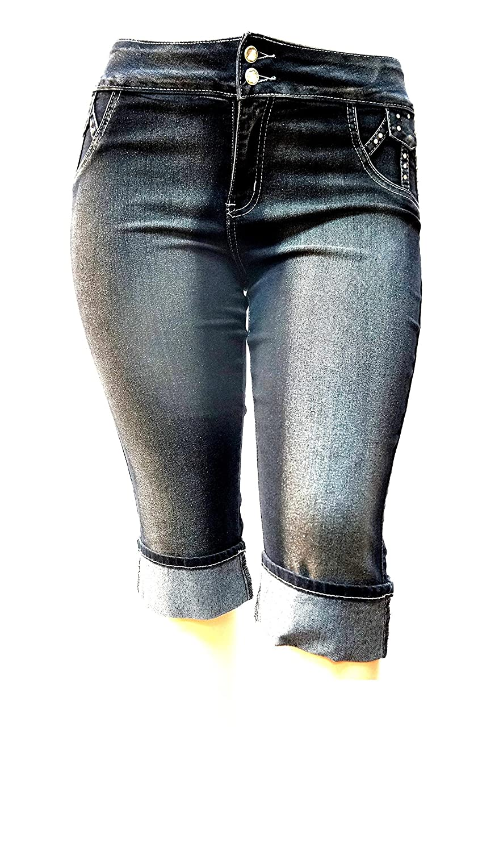 Capri Stretch Jeans black Denim | sheego