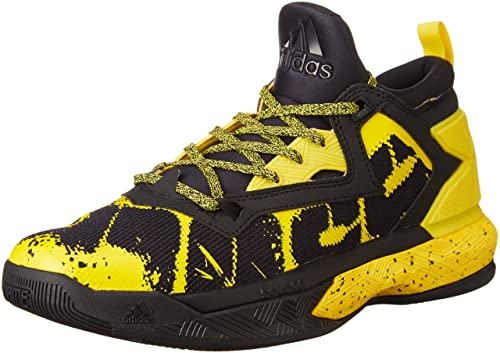 premium selection fe06d f833f adidas D Lillard 2 Scarpe da Basket Uomo, Multicolore YellowCblack, 42 EU