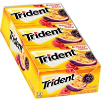 Trident Passionberry Twist Sugar Free Gum - with Xylitol - 12 Packs (168 Pieces Total)