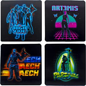 Ready Player One 3D Coasters, Papercard, Multi-Colour, 1 x 10 x 10 cm