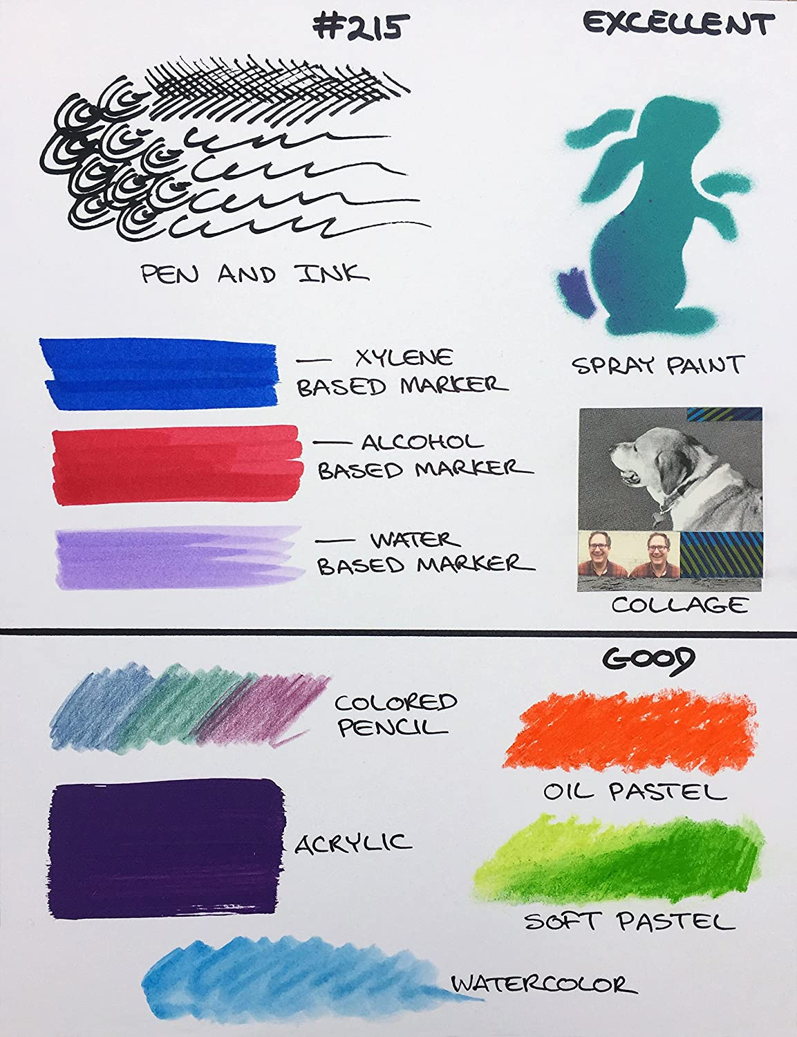Board White 3 Pack 11 X 14 Crescent Creative Products 215-1114 Crescent Art /& Illustration Marker