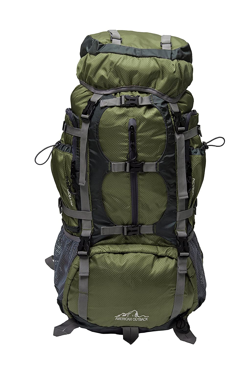 American Outback Glacier Internal Frame Hiking Backpack (Green) B01H0RLZ0Y