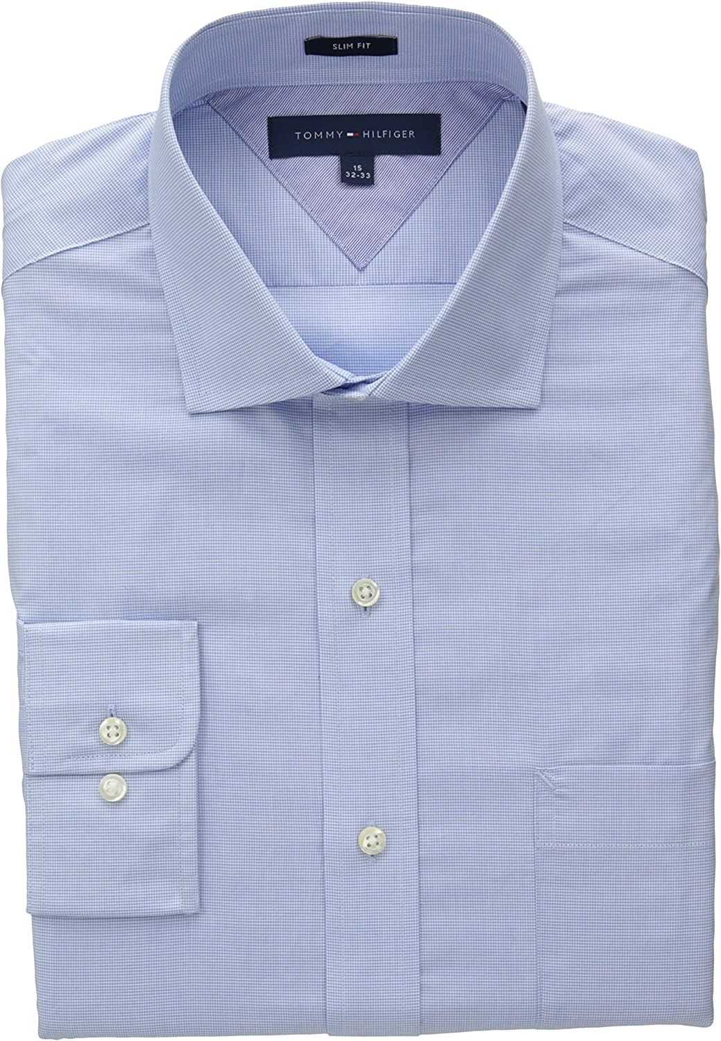 Tommy Hilfiger Mens Slim Fit Micro Check