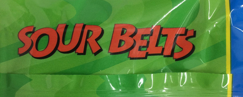 Paskesz Sour Belts Apple Flavored Sour Belts 4 Oz. Pack Of 3.