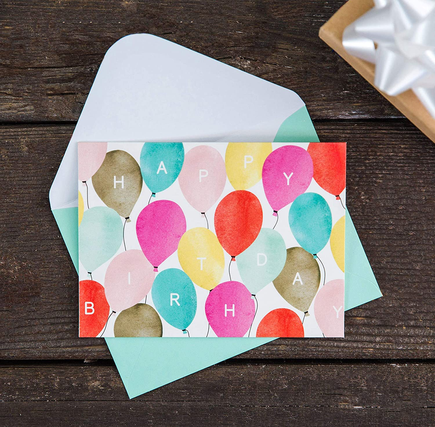 Watercolor Bulk Birthday Cards Assortment 48pc Happy Card With Envelopes Box Set Assorted Blank