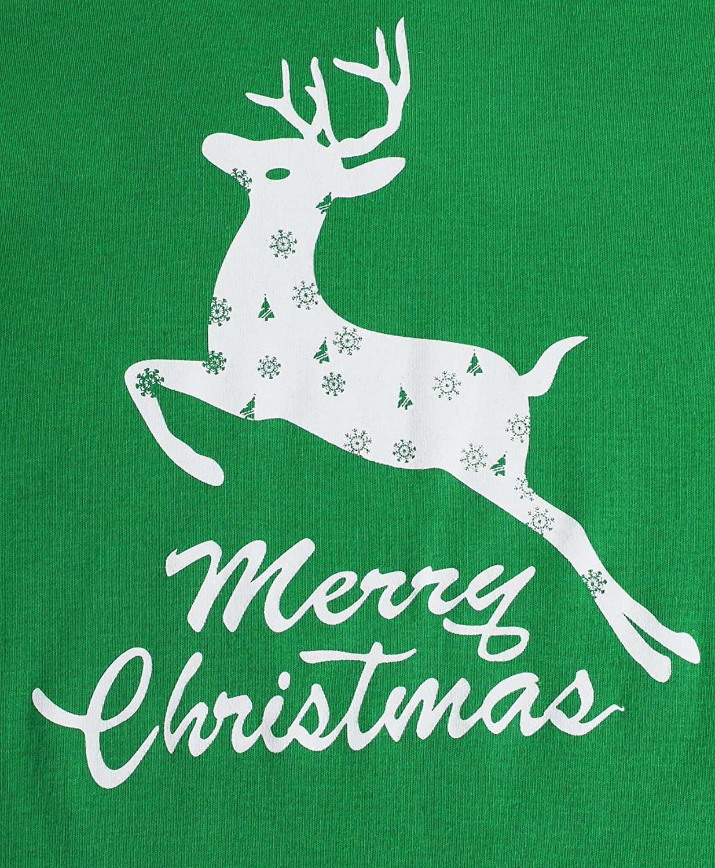 GYS Kids Christmas Pajamas Boys Sleepwear Reindeer Printed Clothes Cotton Pants Set AMC-731T-1