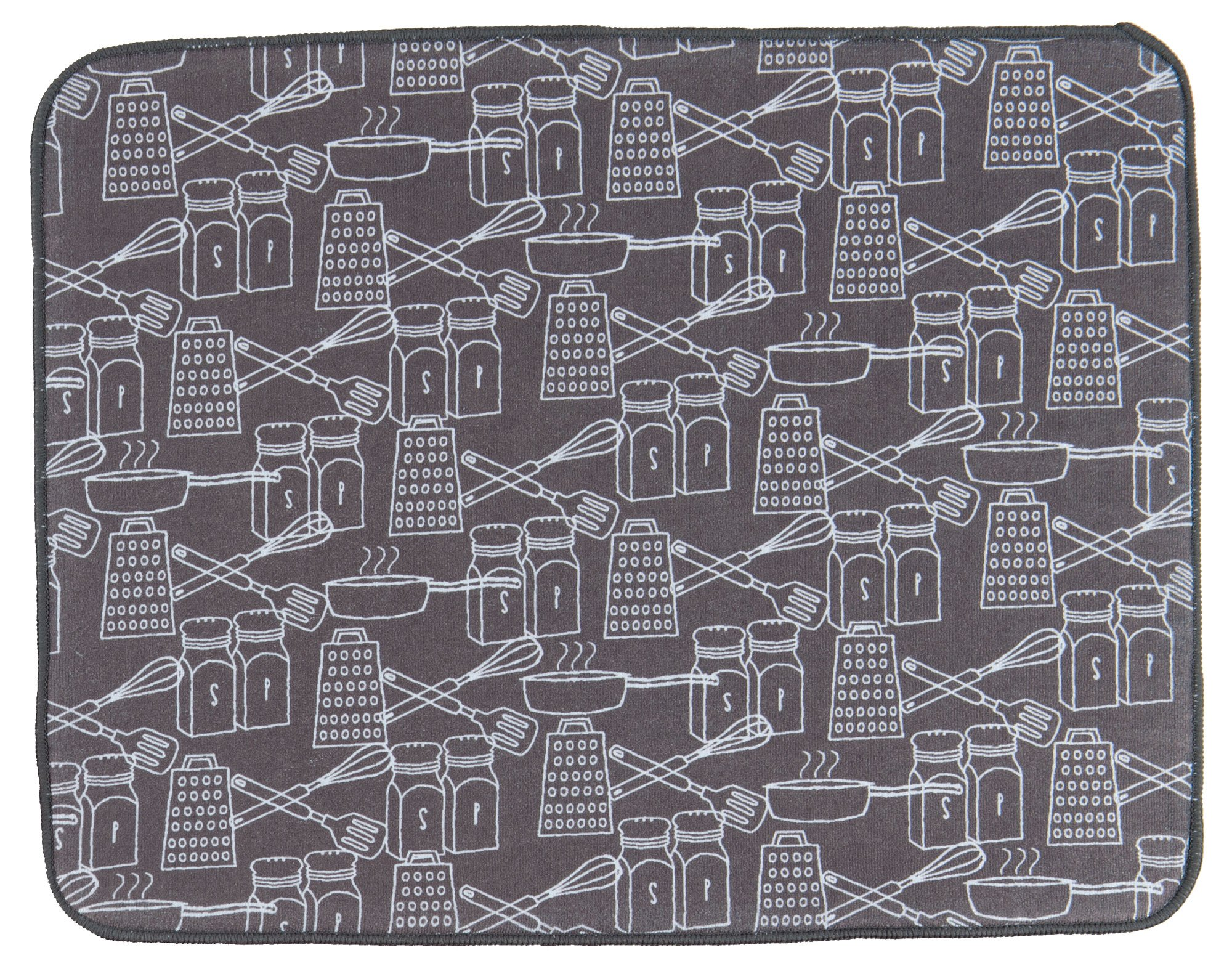Kay Dee Designs A9004 Cookery Microfiber Drying Mat,Steel by Kay Dee