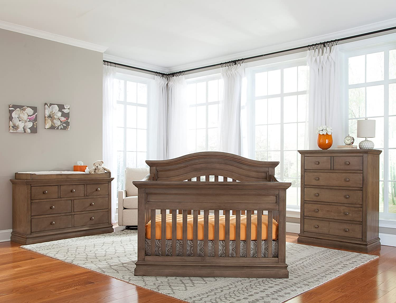 Amazon.com: Westwood Design Pine Ridge/Stone Harbor 7 Drawer Double Dresser  Chest, Cashew: Baby