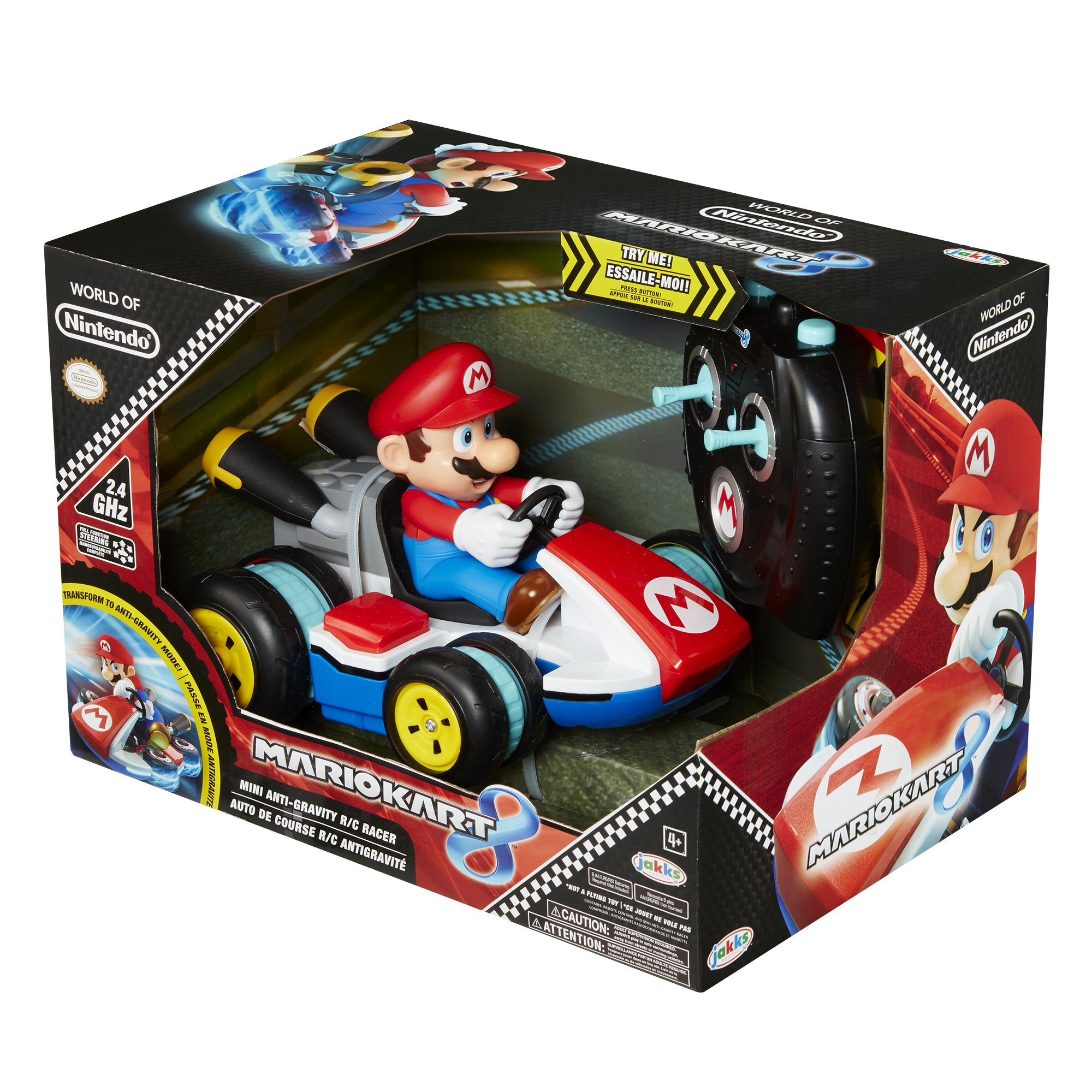 NINTENDO Super Mario Kart 8 Mario Anti-Gravity Mini RC Racer 2.4Ghz by Nintendo (Image #8)