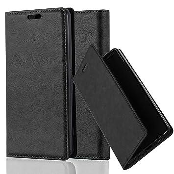 Cadorabo Funda Libro para Sony Xperia Z1 Compact en Negro Antracita – Cubierta Proteccíon con Cierre Magnético, Tarjetero y Función de Suporte – Etui ...