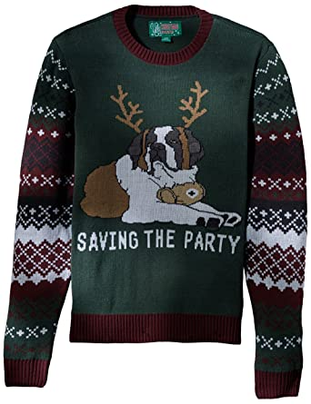 Ugly Christmas Sweater Men's Light-up-Saving The Party Sweater at ...
