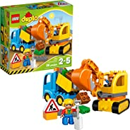 LEGO DUPLO Town Truck & Tracked Excavator 10812 Dump Truck and Excavator Kids Construction Toy with DUPLO Construction Worker