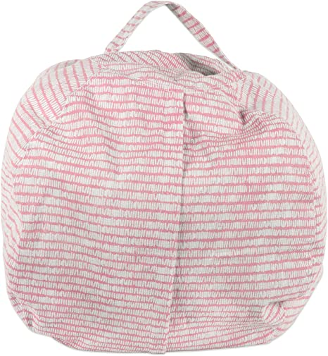 DII Large Bean Bag Chair Cover for Kids /& Stuffed Animal Storage Keeping Score Stripes Print Pink Sorbet